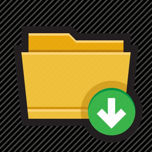 copy, download, folder, import, save icon