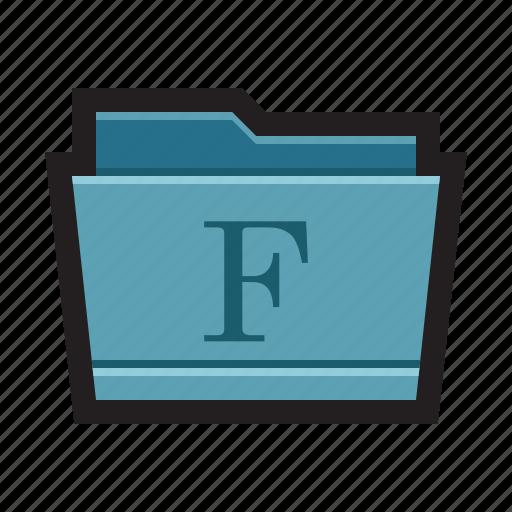 folder, fonts, letters, mac, open type, true type, type icon