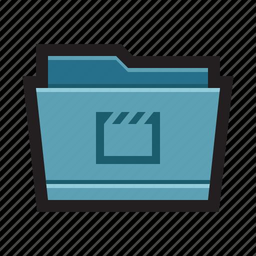 films, folder, footages, mac, movies, videos icon