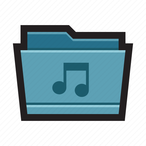 album, audio, folder, mac, mp3, music, sound icon