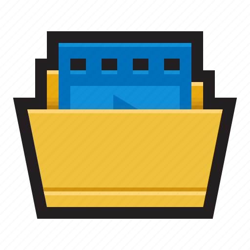 downloads, film, folder, footages, movies, videos icon