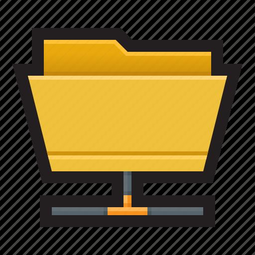 backup, cloud, folder, local folder, network, remote icon