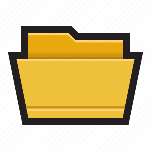 binder, directory, file, folder, open icon