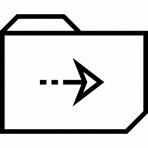 arrow, folder, right icon