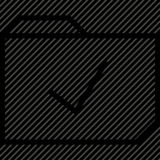 check, folder, mark icon