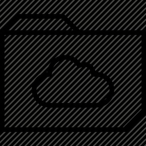 cloud, folder, save icon