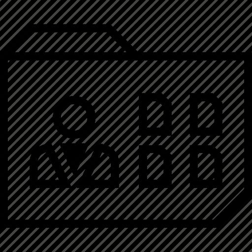 connect, folder, user icon