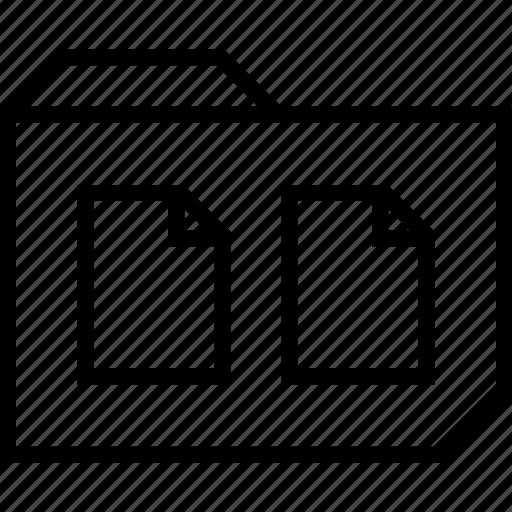 file, folder, two icon