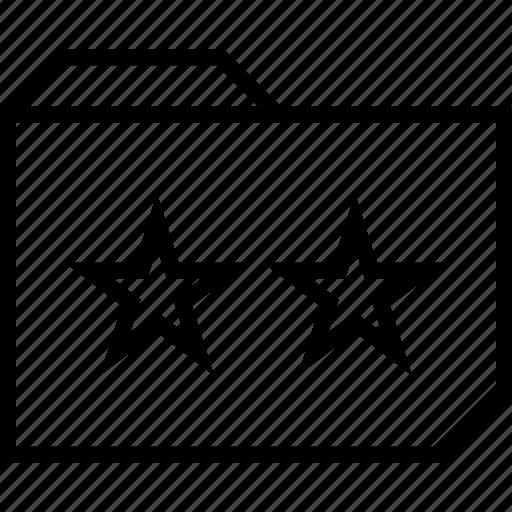 folder, stars, two icon