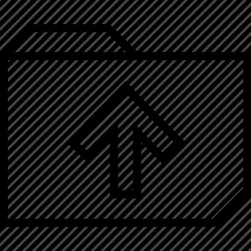 folder, up, upload icon