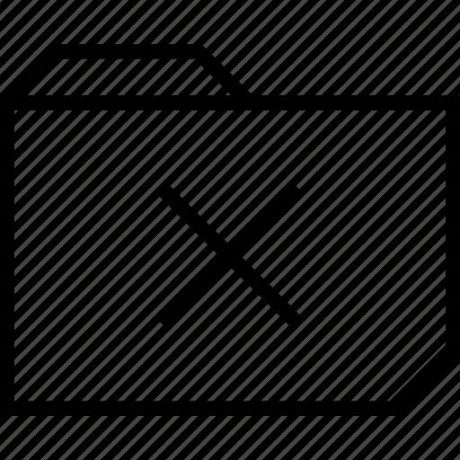 delete, folder, x icon