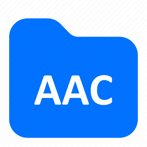 aac, archive, folder, format icon