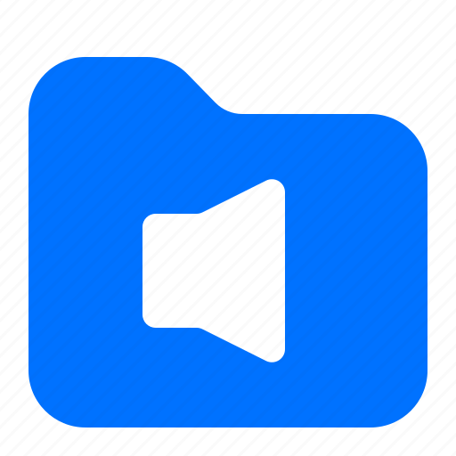 archive, audio, folder, sound icon