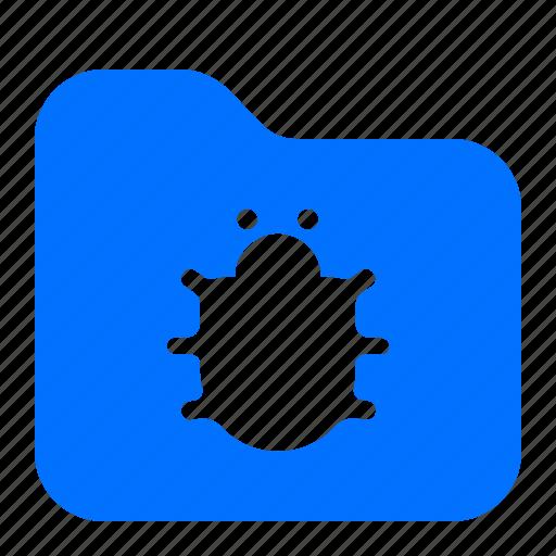 archive, bug, file, folder icon