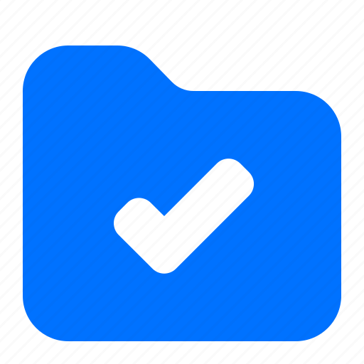 archive, complete, confirm, folder icon