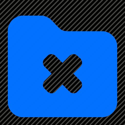 archive, cancel, delete, folder icon