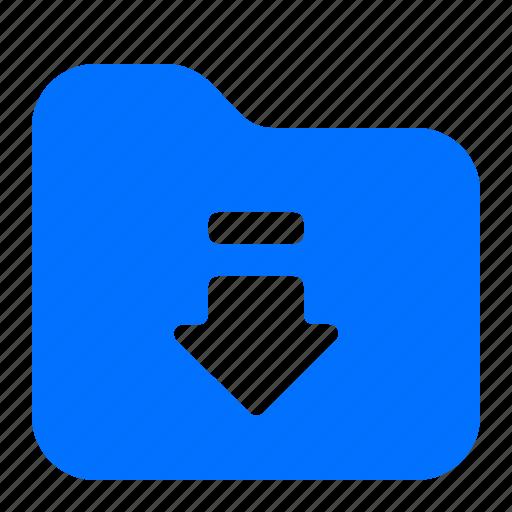 archive, arrow, download, folder icon