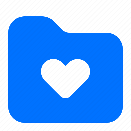 archive, favourite, folder, heart icon