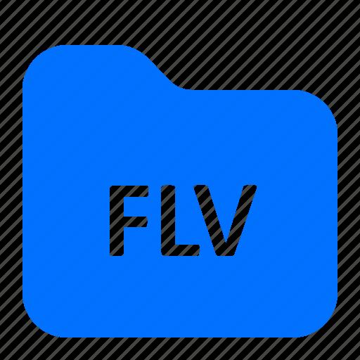 archive, flv, folder, format icon