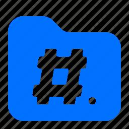 archive, file, folder, hashtag icon