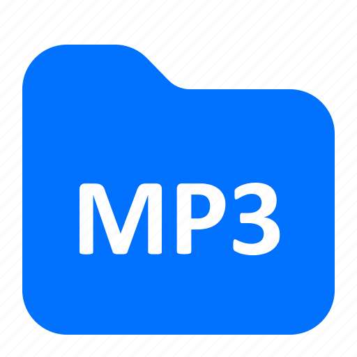 archive, folder, format, mp3 icon