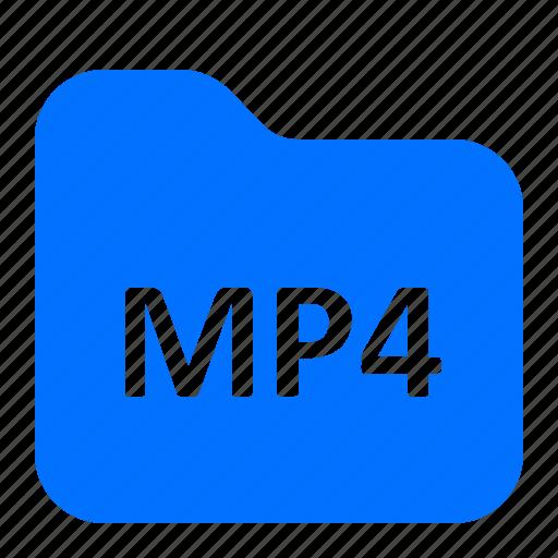 archive, folder, format, mp4 icon