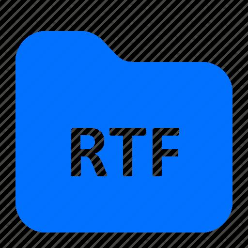 archive, file, folder, rtf icon