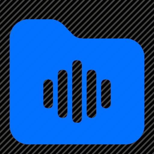 archive, audio, folder, specific icon