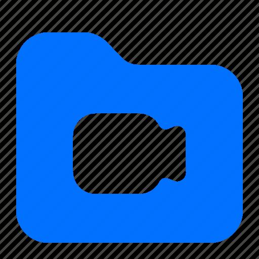 archive, file, folder, video icon