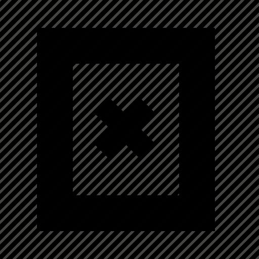 close, document, minus, remove, subtract icon