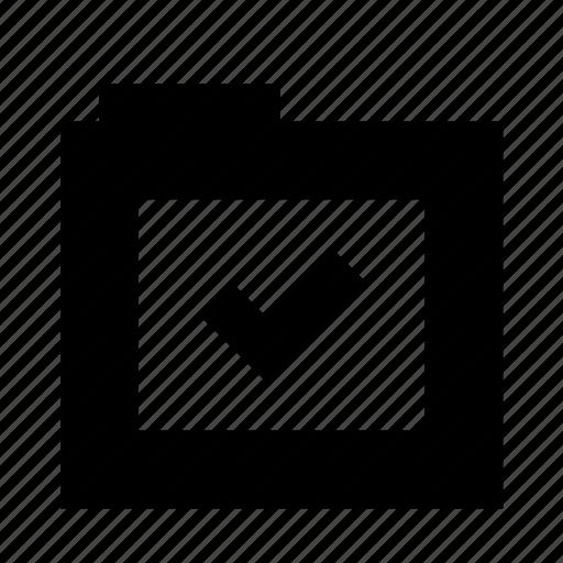 check, complete, files, finish, folder icon