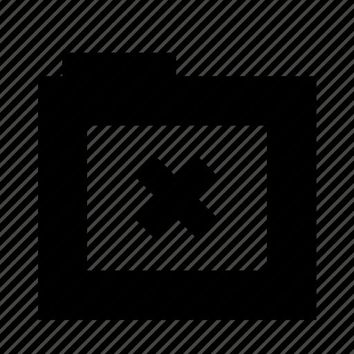 close, exit, folder, remove, subtract icon