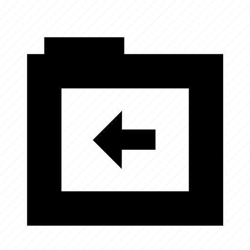 bfore, folder, left, left arrow, previous icon