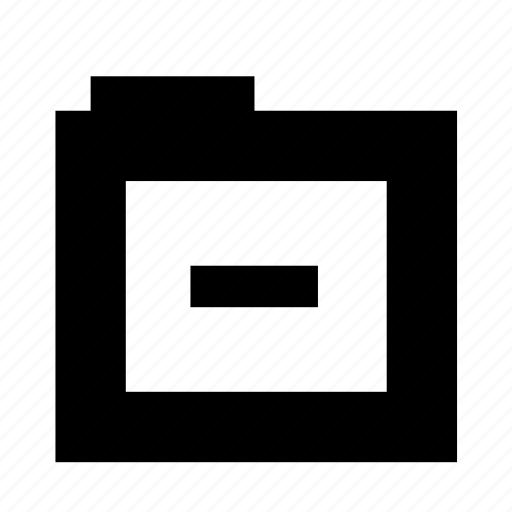 file, folder, minus, remove, subtract icon