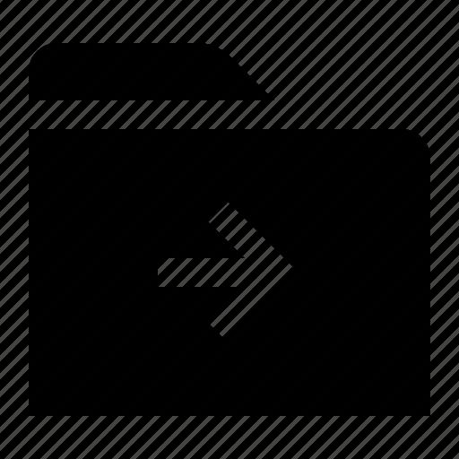 directory, file, folder, folio, forward, next, right icon