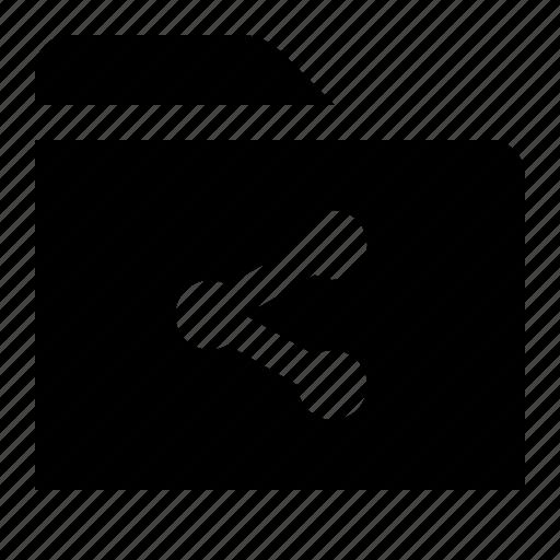 directory, document, file, folder, folio, share icon