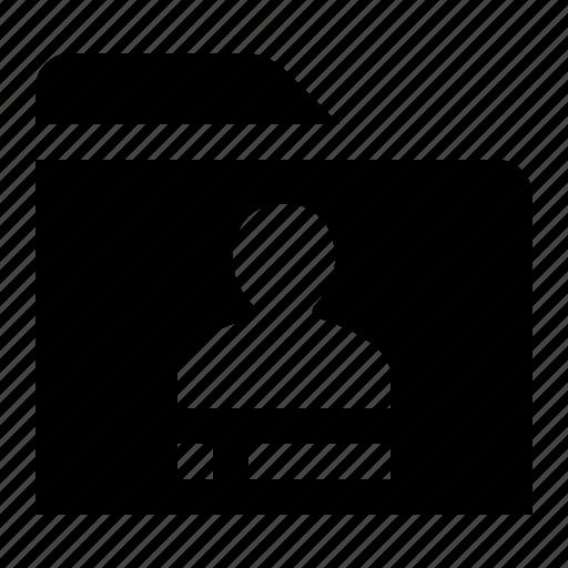 directory, folder, folio, identity, person, profile, user icon