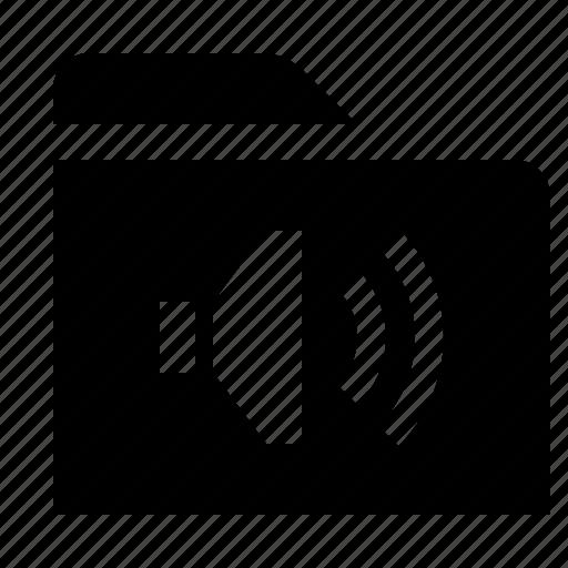 audio, directory, file, folder, folio, sound, volume icon