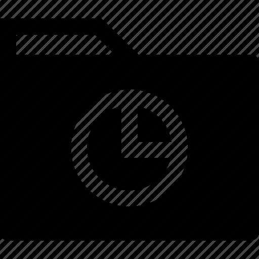 archive, folder, graph icon