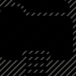 documents, files, folder, list, text icon