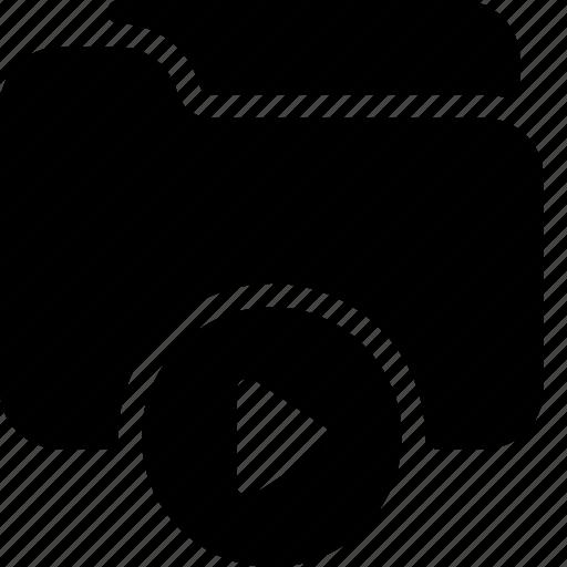 document, file, folder, media, video icon