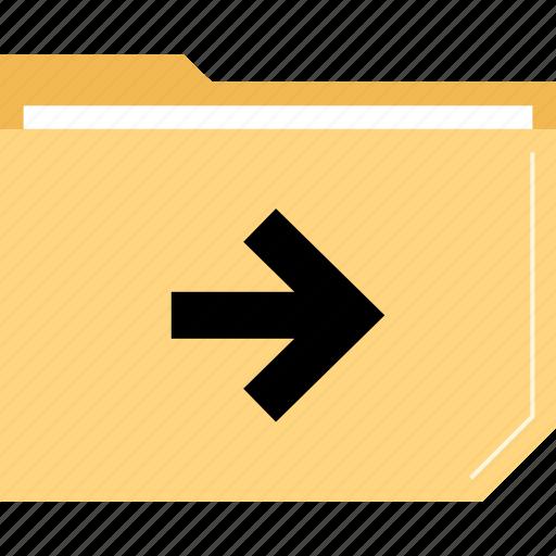 arrow, folder, go, right icon