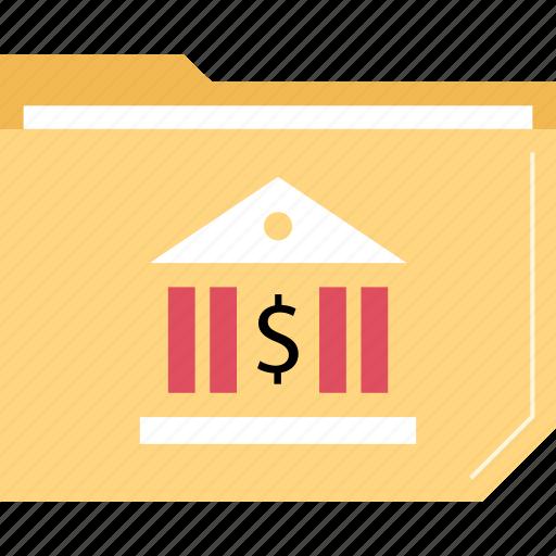 bank, banking, folder icon