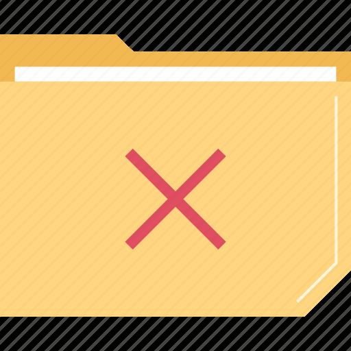 delete, denied, file, folder icon