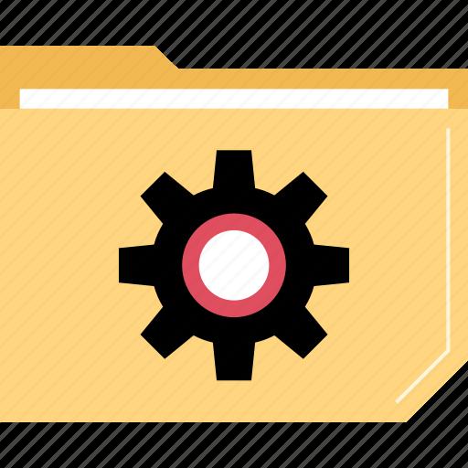 folder, gears, settings icon