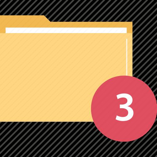 Folder, number, three icon - Download on Iconfinder