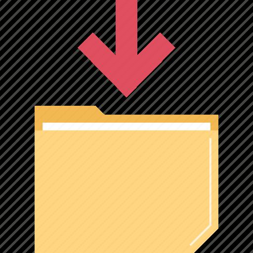 data, folder, receive icon