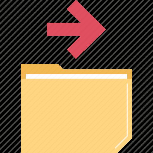 files, folder, go, right icon