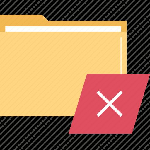 delete, folder, stop icon