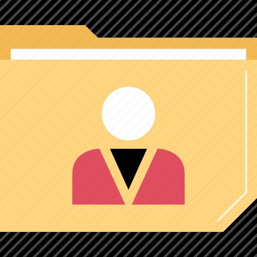 boss, folder, person, user icon